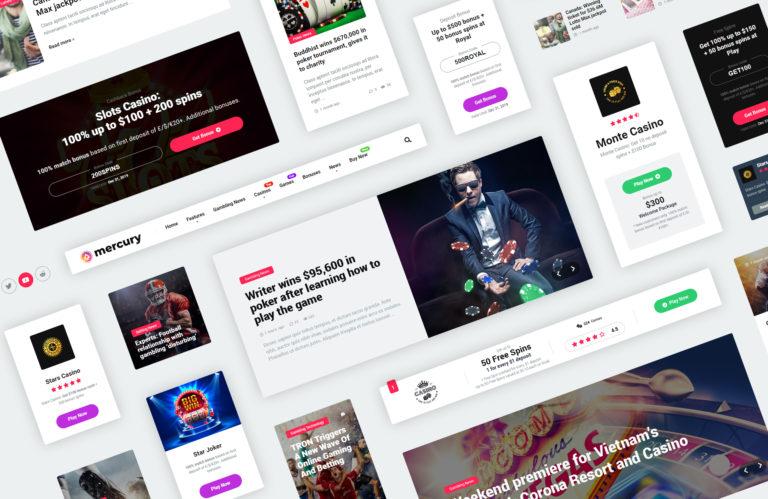 Mercury – Casino Affiliate WordPress Theme