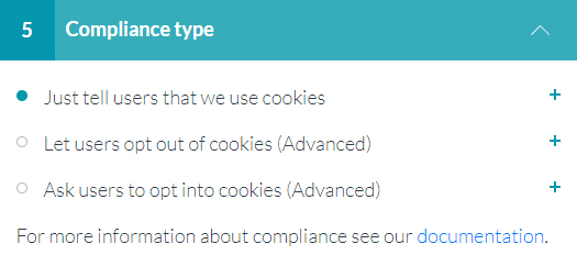 5. Compliance type